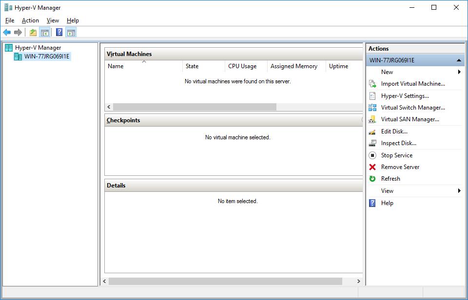 Installation on Microsoft Hyper-V — IACBOX 1 0 documentation